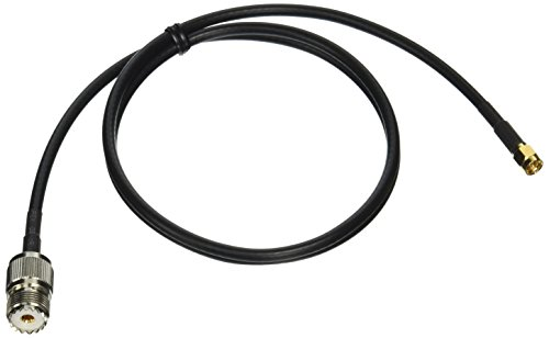 3 Feet DHT Electronics Yaesu Kenwood Handheld to PL259 Cable SMA Male to UHF SO239 Connector