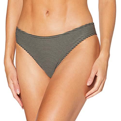 LOVABLE Gold Lines Parte Inferiore del Bikini, Rigato Nero Oro, XL Donna