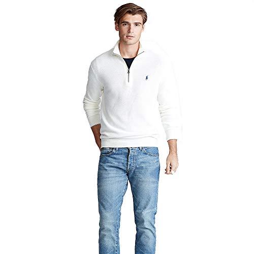 Polo Ralph Lauren Pullover Cotton Half Zip (XL, Old White)
