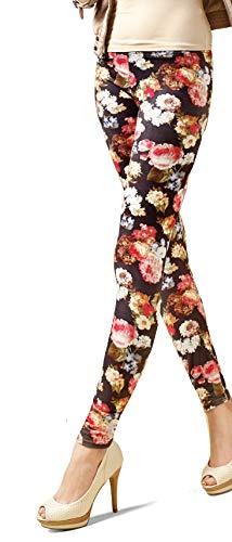Marilyn gemusterte blickdichte Leggings, 120 Denier, Größe 36/38 (S/M), Farbe Grau (grey & mix)