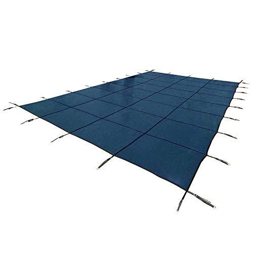 YARD GUARD Deck Lock Mesh 18'x36' Inground Swimming Pool Safety Cover, Blue