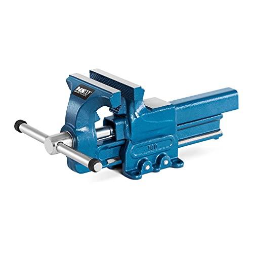 MSW Tornillo de Banco Prensa para Carpintería MSW-DFV-100 (Envergadura 125 mm, Ancho de mordaza 100 mm, Área del yunque: 38x40 mm)
