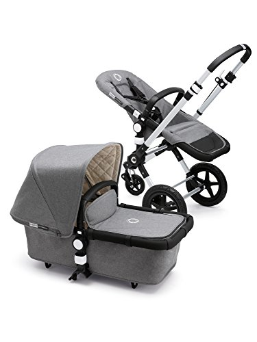 Product Image of the Bugaboo Cameleon3 Classic Complete Stroller, Grey Mélange - Versatile, Foldable...