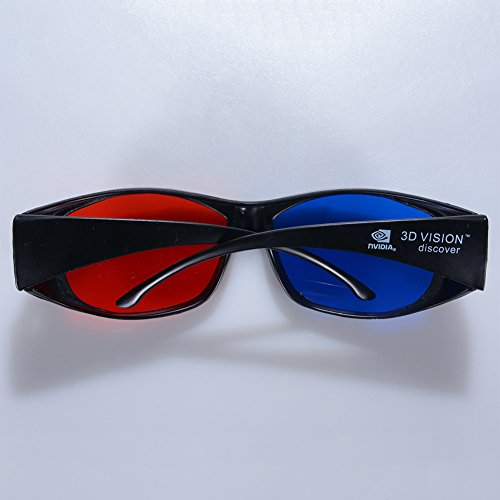 MeterMall 3D Glasses Direct-3D Glasses - Nvidia 3D Vision Ultimate Anaglyph 3D Glasses - Made to Fit Over Prescription Glasses