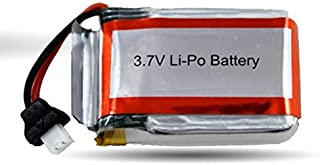 3.7V 250mAh Rechargeable Battery Replacement Part Works with Haktoys HAK901 RC Caged Quadcopter and other Compatible RC Hobby Products
