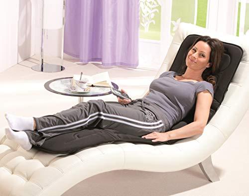 maxVitalis Massageauflage mit Wärmefunktion Ganzkörper, Massageintensität variabel, Fernbedienung, Massagematte inkl. Tragetasche, Massagedecke für Bett Büro Sofa Stuhl