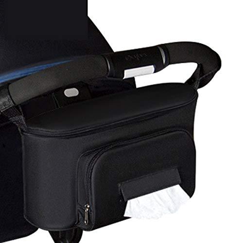 Camidy Kinderwagen Organizer Tasche Abnehmbare Tasche mit Getränkehaltern Und Taschentuch für Kinderwagen Kinderwagen Hängen Essentials Caddy Aufbewahrungstasche