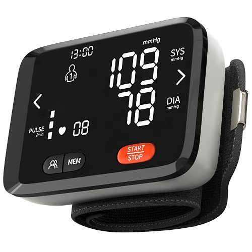 MEDSE USA Blood Pressure Monitor Wrist Automatic - newer 2021 Bionic Chip, Precision Accuracy - Auto, Portable, Voice Activated, Multi-User Memory Heart Rate, Blood Pressure Machine Cuffs for Home Use