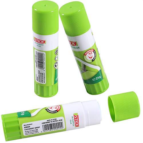 ACEIRMC 3D Printer Glue Stick for Hot Bed Print Filament PLA ABS PET PETG Washable Anti-Tilt Non-Toxic(Pack of 3)