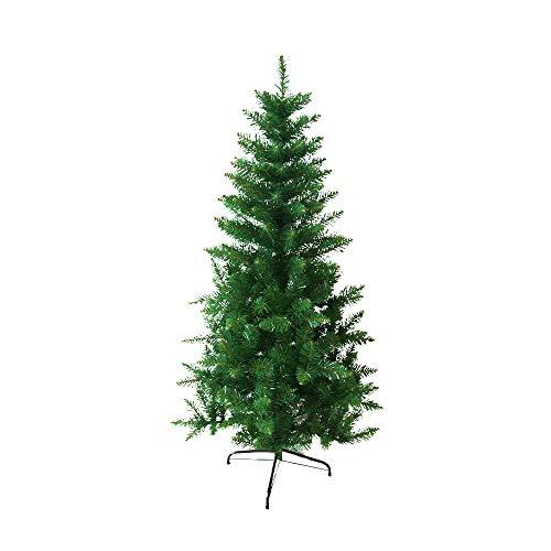 ANSIO Boże Narodzenie, dziewicze ognioodporne PCW, zielone, 1,2 m sztuczne drzewo