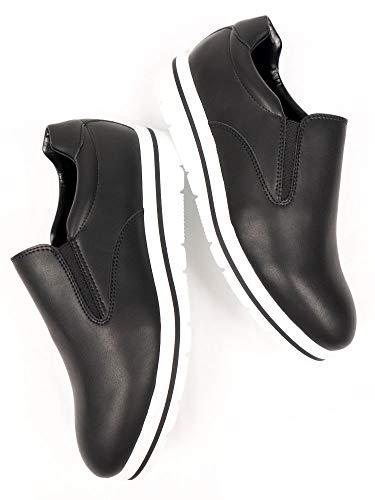 Will's Vegan Store Mujeres Flatform Slipons Negro, color Negro, talla 38 EU