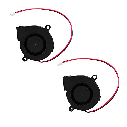 SIENOC 2xCooling Blower Fan DC 12V 0.13A 50mmx15mm Fans for 3D Printer Humidifier