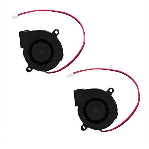 SIENOC Ventilator der Kühlgebläse-Ventilator-DC 12V 0.13A 50mmx15mm für Luftbefeuchter des Drucker-3D (2 Stück)