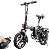 F-wheel A5 Vélo Électrique Pliant - Adulte 14' Portable Vélo Électrique de Ville 25KM/H 350W Moteur 48V 7.5Ah Batterie Trip 35-50KM LCD Otomètre,Confortable Commuer Vélos de Route pour Femelle
