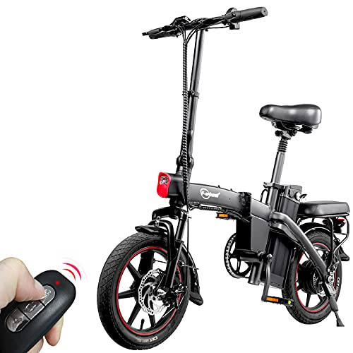 F-wheel A5 Bici Elettrica Pieghevole - Portatile 14' Bici a Pedalata Assistita Per Adulti,25KM/H 350W Motore 48V 7,5Ah Batteria TRIP 35-50KM Display LCD Avvio con Chiave Wireless
