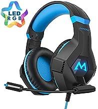 Mpow EG9 Auriculares Gaming PS4 RGB,Sonido Envolvente, Auriculares con Micrófono, Cancelación de Ruido, Casco Gaming para PS4,PC,Xbox One,Nintendo Switch, Wii, iPad, Móviles, Casco Gamer Cable 2.2m