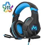 Mpow EG9 Auriculares Gaming PS4 RGB,Sonido Envolvente, Auriculares con...