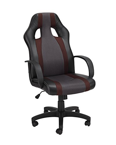 1home verstellbar drehbar liegend PU Hohe Rückenlehne Bürostuhl Ergonomische Computer Stuhl Modern braun