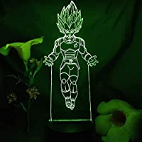 Tatapai 3Dイリュージョンライト男の子と女の子のためのアニメライトアニメキャラクターナイトライトタッチセンサーランプ寝室のベッドサイドの装飾子供キッズテーブルランプ家の装飾のためのナイトライト