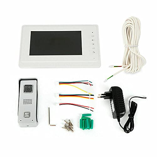 Videoportero con sistema de interfono con monitor LCD, juego de cámara, manos libres y visión nocturna