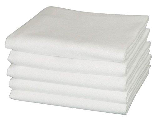 Moltontuch 80x80 cm 100% Baumwolle 5er Pack hergestellt nach Ökotex Standard 100