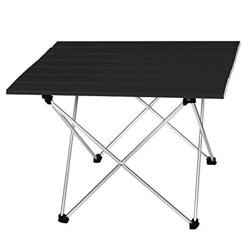 WNN-URG Mesa de Camping Plegable de aleación de Aluminio Ultraligero Fuera del Escritorio de la Cena Plegable para la Fiesta Familiar Picnic BBQ URG (Color : L Size Black)