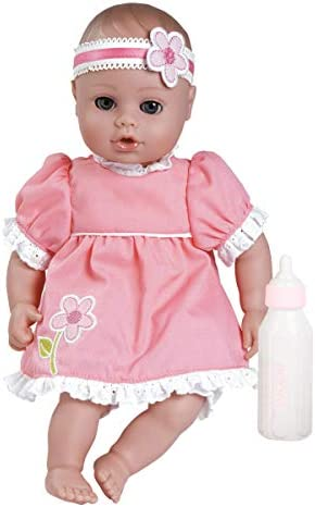 Adora Playtime Garden Party 13 inch Baby Doll with Pink Dress Flower Headband and Bottle product image
