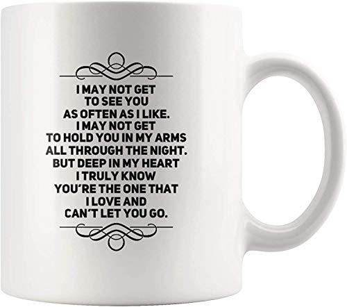 Non riesco a vederti come spesso mi piace, ma ti amo regalo stimolante per fidanzata interurbana fidanzato fidanzato tazza di caffè 11 oz