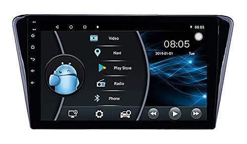 AEBDF Estéreo para Coche Android 10 para Peugeot 408 2014 Radio Unidad Principal de navegación GPS, Volante Bluetooth con Soporte ultradelgado de 9 Pulgadas,6 Core WiFi 2+32 (Ultra Thin)