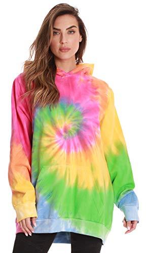 #followme Womens Hoodies - Tie Dye Sweatshirts for Women 6771-10363-XS