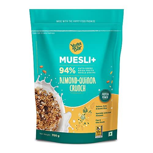 Yogabar Wholegrain Breakfast Muesli - Almond + Quinoa Crunch, 700g