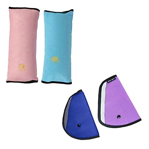 4 Pezzi Auto per Bambini Cuscino,Cintura Auto Bambini, Ideale Come Cuscino Supporto per la Testa,sicurezza in auto per bambini cuscino spalla cuscino Cintura