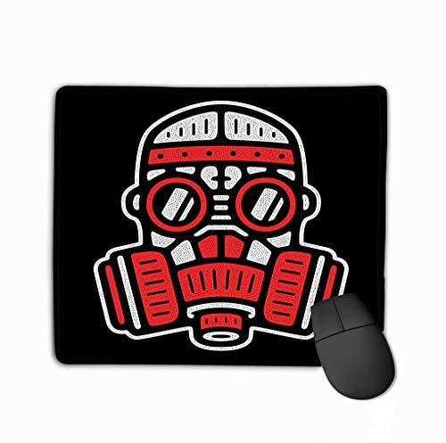 Rectangle Non-Slip Rubber Mousepad 11.81 X 9.84 Inch Respirator Retro Logo Vintage Gas mask Design Vintage Gas mask