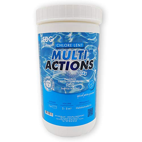 classement un comparer EDENEA – Chlore Multi-Action Pool – Tablette 20 g – Boîte 1 kg – Traitement Long Terme…