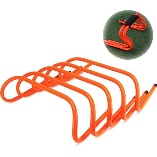トレーニング ミニハードル 5個セット ハードル トレーニング スピード・敏捷性強化、サッカー、トレーニングに適しています、オレンジ色