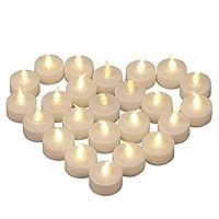 LARGO DA USARE: Yooyee candele a LED senza fiamma di Bianco Caldo e presentano l'effetto della candela reale. Sono perfetti per decorare San Valentino, Halloween, Natale, Matrimonio, Compleanno, Festa, Capodanno e altre occasioni speciali. SICURO DA ...