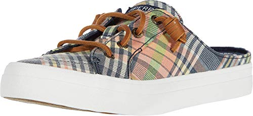 Sperry womens Crest Vibe Mule Washed Plaid Sneaker, Kick Back Plaid, 8.5 US