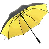 Superbison Golf Umbrella Yellow Dual Layer 62 inches Extra Large Oversize Automatic Open