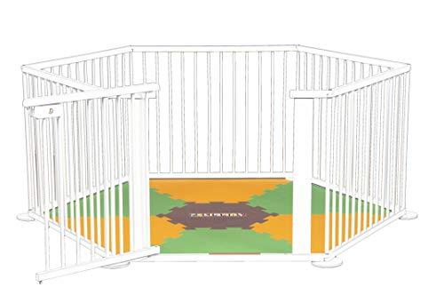 ¡Mattimo! Die Spielmatte, passend für Laufgitter Strolch oder ONE4all 1+5 grün/orange