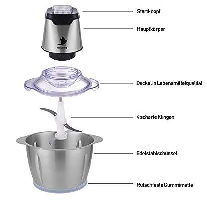 Nestling-500W-Universal-Universalzerkleinerer-12L-Elektrisch-Kuechenmaschine-Zwiebelschneider-Kuechenhelfer-fuer-Gemuese-Multi-Zerkleinerer-fuer-Fleisch