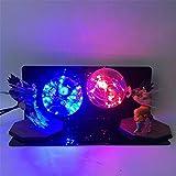YSDNI Dragon Ball Z Vegeta Son Goku Super Saiyajan Led Lampe Glühbirne Anime Dragon Ball Z Vegeta Goku DBZ Led Lampe Nachtlicht,Weihnachtsbeleuchtung,11 Farben- Blitz