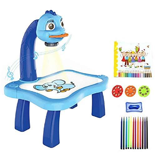 N\P Proyector Led para Niños, Mesa De Dibujo Artística, Tablero De Pintura para Niños, Escritorio, Proyector Led, Pintura, Mesa De Dibujo, Juguetes para Niños, Juguete DIY