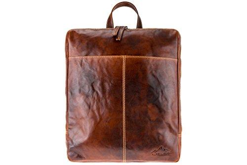 Rucksack Meran | Echtes Büffel-Leder | Herren Damen Vintage Daypack Braun | by Alpenleder