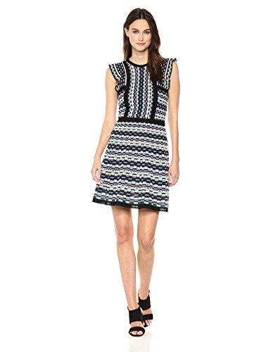 M Missoni Women's Colorful Check Dress, White, EUR 42