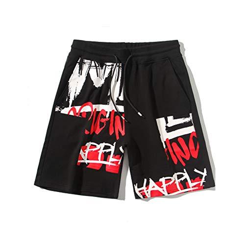 Hip-Hop Panda Graffiti Print Shorts Men and Women Loose Casual Five-Point Shorts Summer Pants