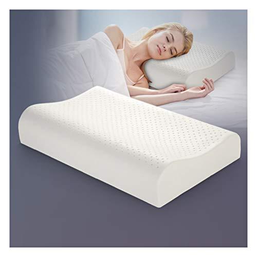 Duan hai rong DHR- Antischnarchkissen Naturlatex Bett Kissen for Schlafen, Thailand Remedial Neck Bettwäsche Nackenkissen mit atmungsaktiv und waschbar Baumwollabdeckung, Kissen for Nackenschmerzen