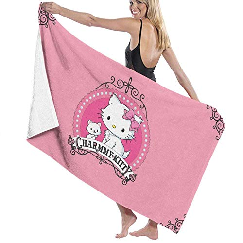 chenguang4422 Cartoons Hello Kitty Cute Bath Towels Large Soft Bathroom Absorbent Towel Women Men Apply to Beach Sports Travel Washcloths