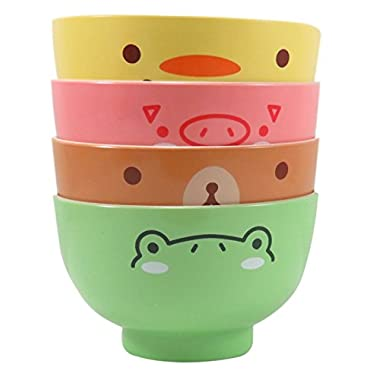 Adorable Snack Dessert Cereal Bowls 10 fl oz Chick Pig Bear Frog (Set of 4)