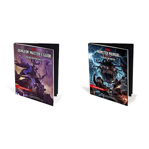 Asmodee Italia- Dungeons Amp; Dragons, 5A Edizione, Guida Del Dungeon Master, Colore, 4003 & D Monster Manuale Dei Mostri, 4002