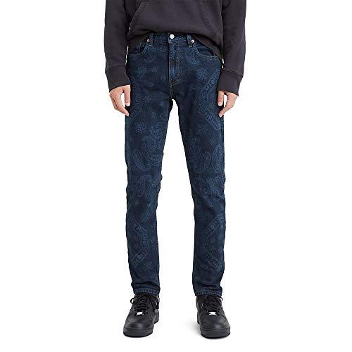 Levi's 512 Slim Taper Fit Jean Jeans, Blue Comet - Bandana Elasticizzata, 36W x 34L Uomo